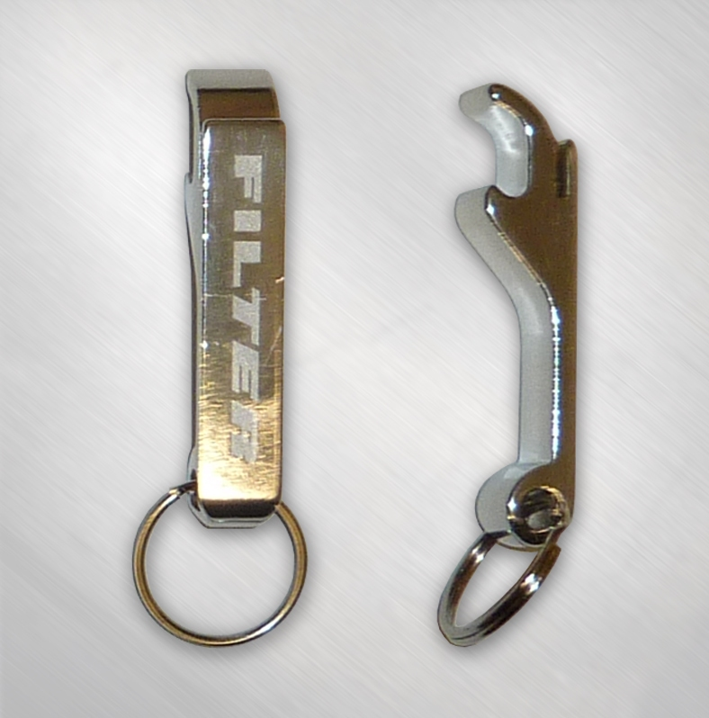filter aluminum logo bottle opener keychain flt4004 now just. Black Bedroom Furniture Sets. Home Design Ideas