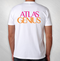 Atlas Genius - Men's White Pocket Logo Tee