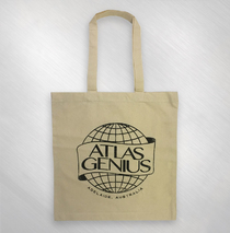 Atlas Genius - Natural AG Globe Logo Tote Bag