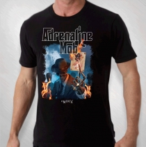 Adrenaline Mob - Men's Black Burnt Album Tour Tee