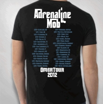Adrenaline Mob - Men's Burnt Album Tour Tee