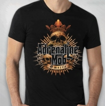 Adrenaline Mob - Men's Black Crest Tour Tee