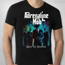 "Adrenaline Mob - Men's Black "" Men Of Honor "" Album Tour Tee"