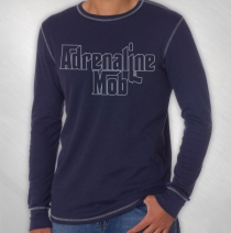 Adrenaline Mob - Men's Steel Blue Logo Thermal
