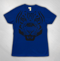 Asia - Women's Blue All Over Omega Tiger Tee