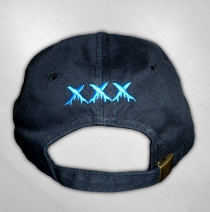 Asia - Black Embroidered XXX Hat
