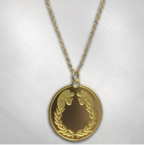 "Barry Dennen ""Pilate"" Pendant with Curb Chain"