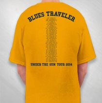 Blues Traveler - 2014 Men's Gold University Tour Tee