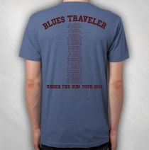 Blues Traveler - Men's Blue Tee Splatter