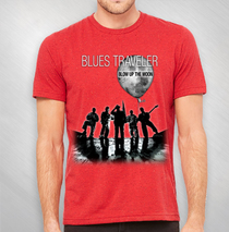 Blues Traveler - Men's Red Speckled BUTM Tour Tee