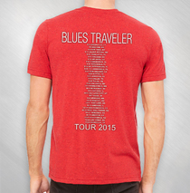 Blues Traveler - BUTM Red Speckled Tour Tee