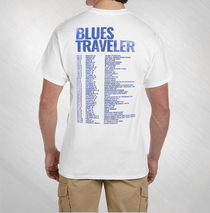Blues Traveler - 2016 Men's White Blue Moon Tour Tee