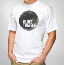 Blues Traveler - 2016 Men's White Grey Moon Tour Tee