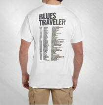 Blues Traveler - Men's White Grey Moon 2016 Tour Tee