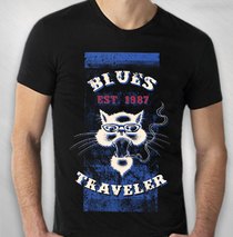 Blues Traveler - 2017 Men's Biker Stripe Tour Tee