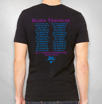 Blues Traveler - 2019 Men's Purple Cat Tour Tee ( Summer '19 )