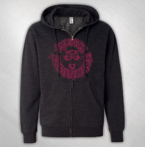 Blues Traveler - Men's Charcoal Circle Cat Zip Hoodie