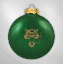 Blues Traveler -  Green Cat Ornament