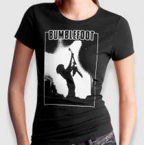 "Bumblefoot - Women's ""Flying V"" Baby-Doll Tee"