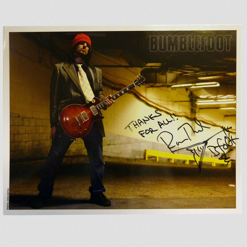 "Bumblefoot - ""MSG 2006"" 8 x 10 - Autographed"