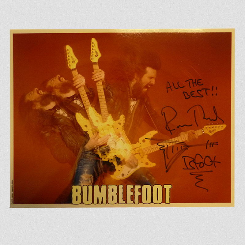 "Bumblefoot - ""Swiss Cheese Guitar"" 8 x 10 - Autographed"
