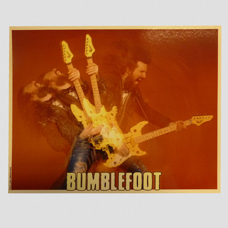 "Bumblefoot - ""Swiss Cheese Guitar"" 8x10 Photo"