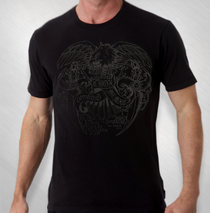 Candlebox - Men's Black on Black Eagle Tee