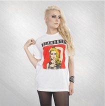 Diamante - Portrait Unisex White Tee
