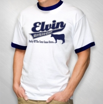 Elvin Bishop - Men's Swoosh Navy Ringer Tee