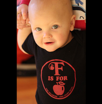 The Fillmore - F is for Apple Organic Baby Onesie