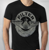 Filter - Men's Black Crest Logo Tee