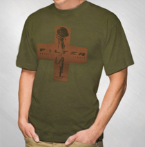 Filter - Men's Green Red Cross Tee