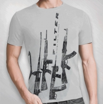 Filter - Guns Up Grey Tee