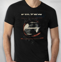 Filter - Men's Black Crazy Eyes Tour Tee