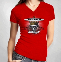 Filter - Skull King Womens V-Neck Tour Tee