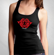 Filter - Women's Lips Logo Black Tank