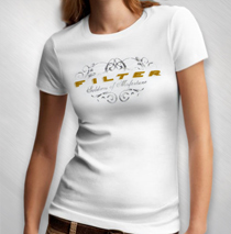 Filter - Logo Women's White Tee
