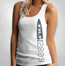Filter - Women's Side Print White Tank