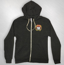 The Fox Oakland - Eco Black Logo Zip Hoodie