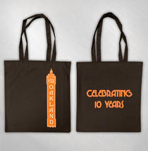 The Fox Oakland - Orange Print 10 Year Marquee Tote Bag