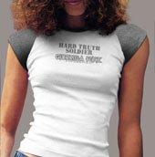 Guerrilla Funk - Women's Hard Truth Soldier White T-Shirt