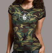 Public Enemy - Women's Rebirth Of A Nation Camouflage Tee