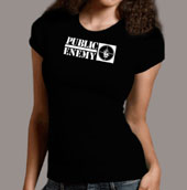 Public Enemy  - Women's Rebirth Of A Nation Black Tee