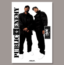 Posters & Accessories - Poster - Paris & Chuck D/Public Enemy