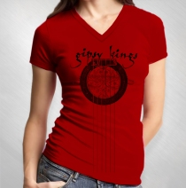 Gipsy Kings - Women's Tall Guitar Red V-Neck