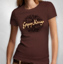 Gipsy Kings - Women's Rose Logo Chocolate Tee