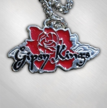 Gipsy Kings - Rose Logo Pewter Necklace