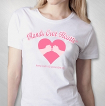 Hands Over Hearts - White Tee