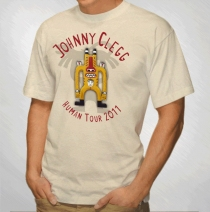 Johnny Clegg - Totem Guy Tour Sand Tee