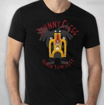 Johnny Clegg - Men's Black Totem Guy Tour Tee